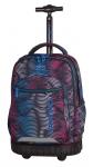Plecak CoolPack SWIFT  na kółkach w kolorowe paski, FLASHING LAVA 946 (70416)