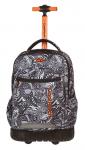 Plecak szkolny młodzieżowy na kółkach COOLPACK SWIFT czarno białe wzory do kolorowania, BLACK LACE 1069 (80507)