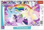 TREFL Puzzle Ramkowe 15 el. My Little Pony, Zabawa kucyków (31280)