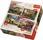 TREFL Puzzle 4 w 1 DINOZAURY (34249)