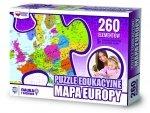 ZACHEM Puzzle 260 el. Mapa Europy, PUZZLE EDUKACYJNE (7149)