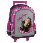 Plecak szkolny na kółkach I Love Horses KONIE (PL15KKO13)