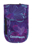 Portfel saszetka na szyję CoolPack TOURIST fioletowy w kwiaty, LUNAR BLOSSOM 801 (74667)