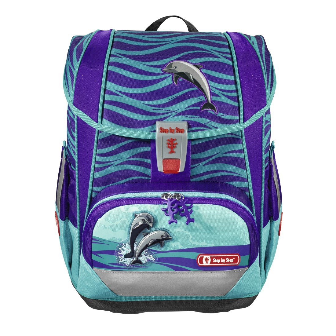 zestaw 4 el tornister step by step light ii happy dolphins hama 138502 sklep. Black Bedroom Furniture Sets. Home Design Ideas