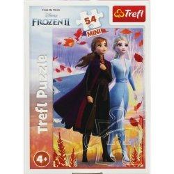TREFL Puzzle mini 54 el. Kraina Lodu  FROZEN 2, Siostry (19639)