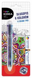 Długopis 6 kolorów KIDEA (D6KA)