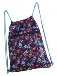 WOREK CoolPack SHOE BAG sportowy na obuwie kwiatki na ciemnym tle, TROPICAL BLUISH (92357CP)