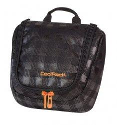Kosmetyczka CoolPack TRAVEL w czarno szarą kratę BLACK&ORANGE 424 (64330)