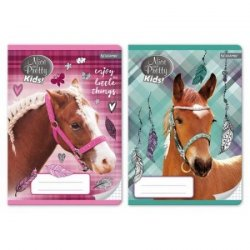 Zeszyt w kolorową linię 16 kartek Koń NICE AND PRETTY (79965)