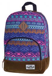 Plecak szkolny, miejski młodzieżowy COOLPACK CLASSIC w plemienne wzory BLUE TRIBAL 1014 (72076)