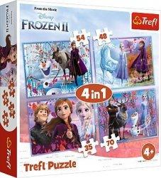 TREFL Puzzle 4 w 1 Kraina Lodu 2 FROZEN (34323)