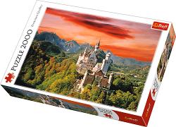 TREFL Puzzle 2000 el. Zamek Nowy Łabędzi Kamień, Bawaria (27050)