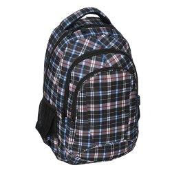 Plecak szkolny młodzieżowy w szarą kratę (158090B)