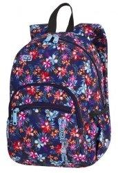 Plecak wczesnoszkolny CoolPack MINI kwiatki na ciemnym tle, TROPICAL BLUISH (85793CP)