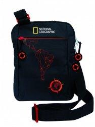 Torba na ramię saszetka National Geographic czarna, COMPASS RED (71861)