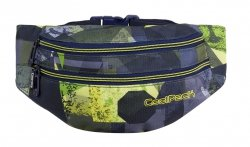 Saszetka na pas torba nerka COOLPACK MADISON czarno-zielona, LIME ABSTRACT (86629CP)