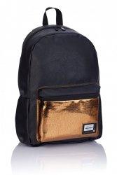 Plecak HEAD czarny ze złotymi dodatkami, GOLD FASHION HD-351 (502019085)