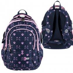 Plecak szkolny młodzieżowy ST.RIGHT w kocie łapki, CATS & PAWS BP1 (27354)