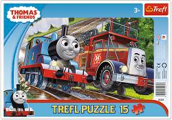 TREFL Puzzle Ramkowe 15 el. Tomek i Przyjaciele, Tomek i Felek (31231)