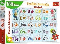 TREFL Puzzle Edukacyjne 30 el. Trefliki poznają alfabet (15553)