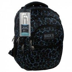 Plecak szkolny młodzieżowy Back UP czarny ELECTRO SHAPES + słuchawki (PLB1B5)