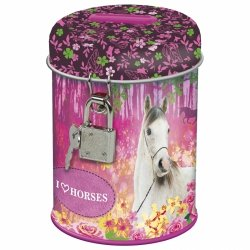 Skarbonka z kłódką I LOVE HORSES Konie (SKKO15)