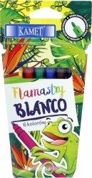 Pisaki zmywalne flamastry BIANCO 6 kolorów KAMET (04033)