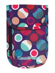 Portfel saszetka na szyję COOLPACK TOURIST w kolorowe kropki, MOSAIC DOTS 729 (72649)