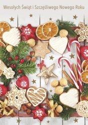 Kartka świąteczna BOŻE NARODZENIE 12 x 17 cm + koperta (37243)