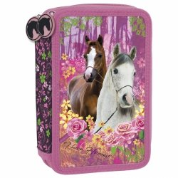 Piórnik trójkomorowy bez wyposażenia I LOVE HORSES Konie (PTKKO15)