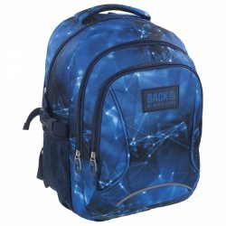 Plecak szkolny młodzieżowy Back UP niebieskie wzory BLUE NET (PLB1F47)
