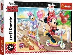 TREFL Puzzle 200 el. Myszka MINNIE na plaży (13262)