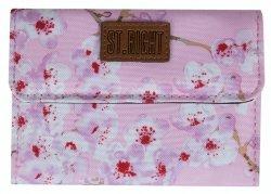 Portfel ST.RIGHT w kwiaty wiśni, BLOSSOM NW2 (22717)