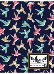 Zeszyt A5 w kratkę 60 kartek HASH w kolorowe ptaszki, KOLIBER HS-140 (102019029)