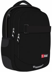 Plecak szkolny młodzieżowy ST.RIGHT czarny ST.BLACK BP34 (19090)