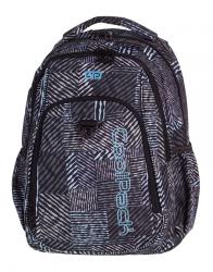 Plecak szkolny młodzieżowy COOLPACK STRIKE czarno - biały, MONOCHROMATIC 827 (75510)