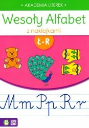Wesoły alfabet z naklejkami Ł-R (35743)
