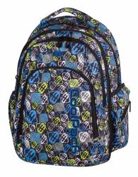 Plecak szkolny młodzieżowy COOLPACK MAXI niebiesko - żółty, SIGNS 817 (75244)