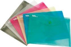 Teczka koperta transparentna na dokumenty A5 PATIO  fioletowa (PAT3139A/N/12)