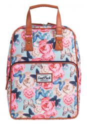 Plecak szkolny młodzieżowy, torebka 2w1 COOLPACK CUBIC kwiaty i motyle, BUTTERFLIES 1030 (72441)
