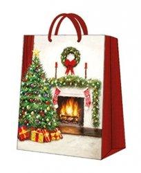 Torebka świąteczna CHRISTMAS INTERIOR, Paw (AGB031303)
