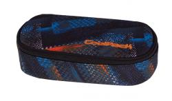 Piórnik CoolPack CAMPUS w niebiesko - pomarańczowe wzory, TIRE TRACKS 756 (73417)
