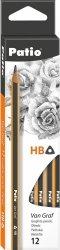 Ołówki szkolne trójkątne VanGraf HB PATIO 12 szt. (51958PTR)