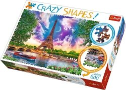 TREFL Puzzle 600 el. Crazy Shapes Niebo nad Paryżem (11115)