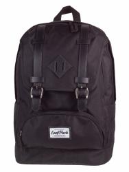 Plecak szkolny, miejski młodzieżowy COOLPACK CITY czarny BLACK 1020 (72199)