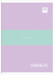 Zeszyt A5 60 kartek w kratkę BB PASTEL Fiolet (55723)