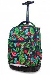 Plecak CoolPack SWIFT na kółkach w czerwone kwiaty, JUNGLE (B04016)