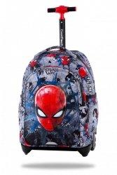 ZESTAW 3 el. Plecak CoolPack JACK na kółkach Spiderman na szarym tle, SPIDERMAN BLACK (B53303SET3CZ)