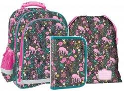 Plecak szkolny w różowe sarny PINK DOE (PL15BDF10SET3CZ) ZESTAW 3 el.