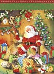 Kartka świąteczna przestrzenna BOŻE NARODZENIE 19 x 14 cm + koperta (28705)